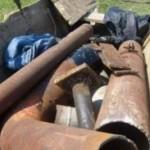 Robinet industrial furat si dus la fier vechi
