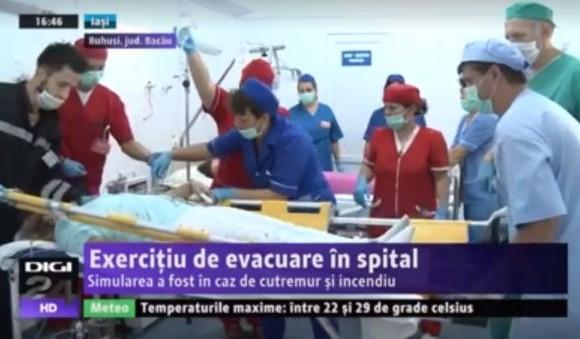Exercițiu de evacuare la Spitalul Orășenesc Buhuși